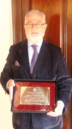 Jesús de Alfonso_Placa conmemorativa Instituciones Arbitrales Corporativas